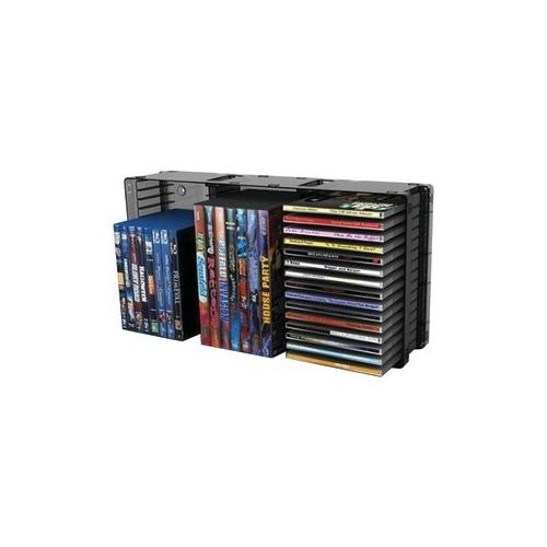 Atlantic 36635731 Domino Disc Storage Module 45 CD/21 DVD, Black