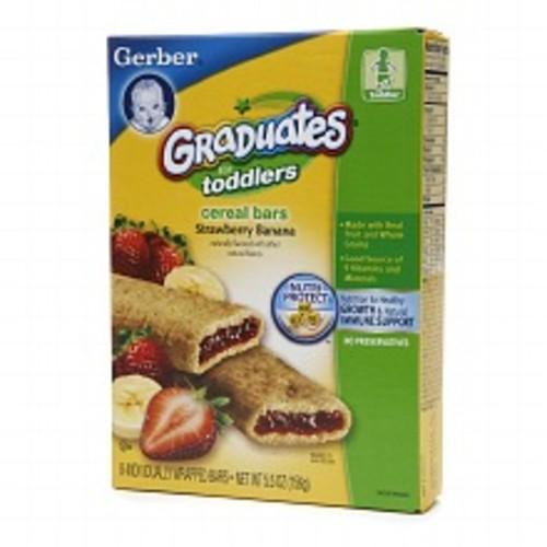 Gerber Graduates for Toddlers Cereal Bars Strawberry Banana