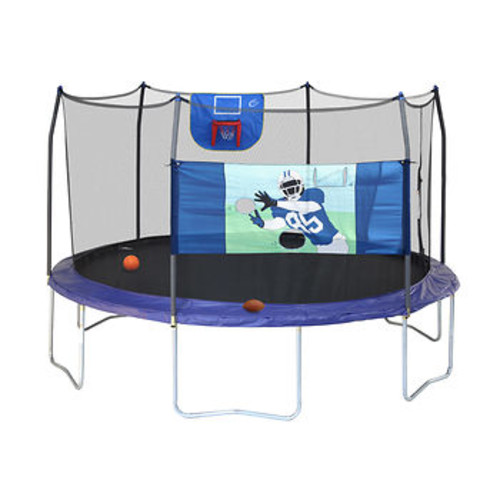 Skywalker Trampolines Professional Edition 15' Round Trampoline Sports Arena with Enclosure
