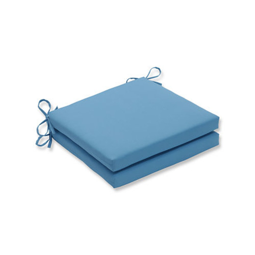 Pillow Perfect Outdoor / Indoor Veranda Turquoise Squared Corners Seat Cushion 20x20x3 (Set of 2) JCPenney