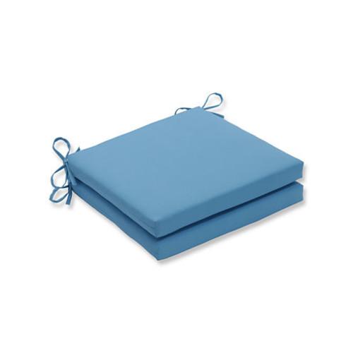 Pillow Perfect Outdoor / Indoor Veranda TurquoiseSquared Corners Seat Cushion 20x20x3 (Set of 2)
