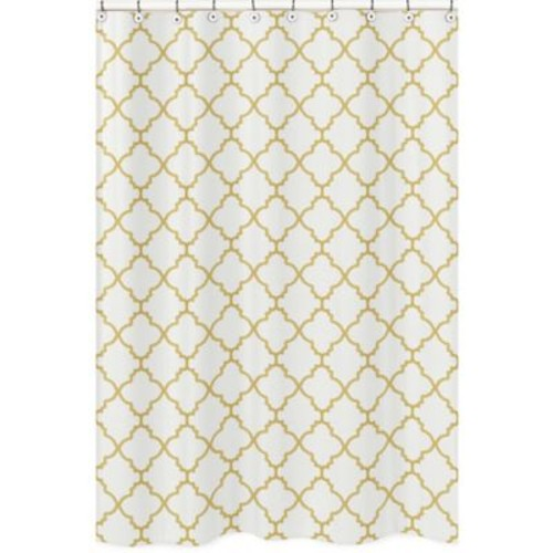 Sweet Jojo Designs Trellis Shower Curtain in White/G