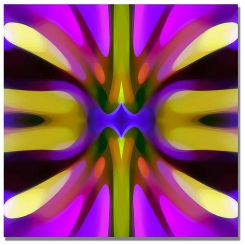 Amy Vangsgard 'Tree Light Symmetry Magenta and Green' Canvas Art