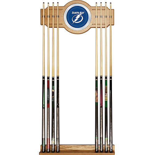 NHL Two-piece Wood and Mirror Wall Cue Rack