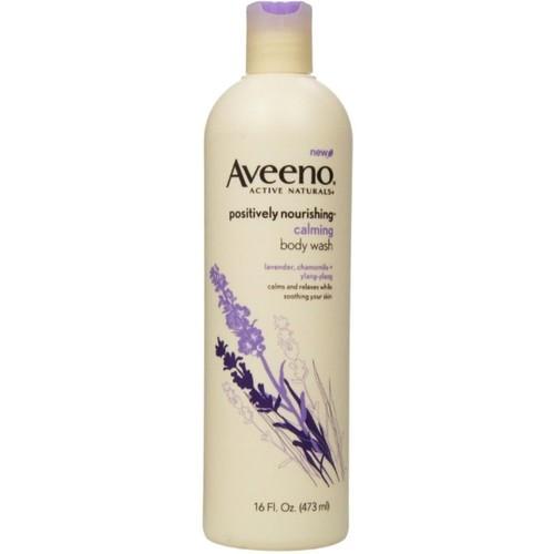 Aveeno Positively Nourishing Moisturizing Calming Body Wash, 16 Fl. Oz [Calming Body Wash (Lavender & Chamomille)]