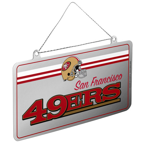 NFL San Francisco 49ers License Plate Ornament