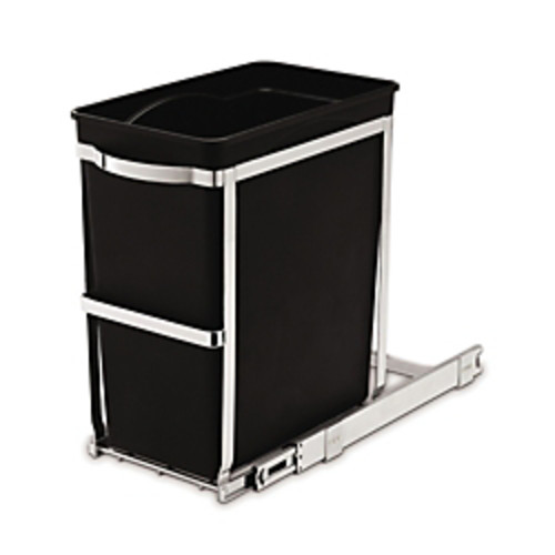 simplehuman Pull-Out Trash Can, 8 Gallons