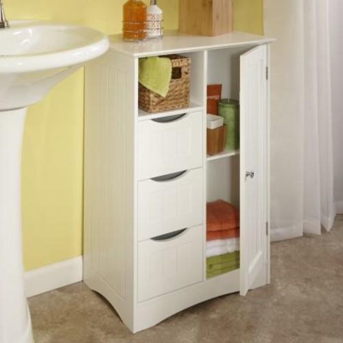 RiverRidge Ashland White Storage Floor Cabinet