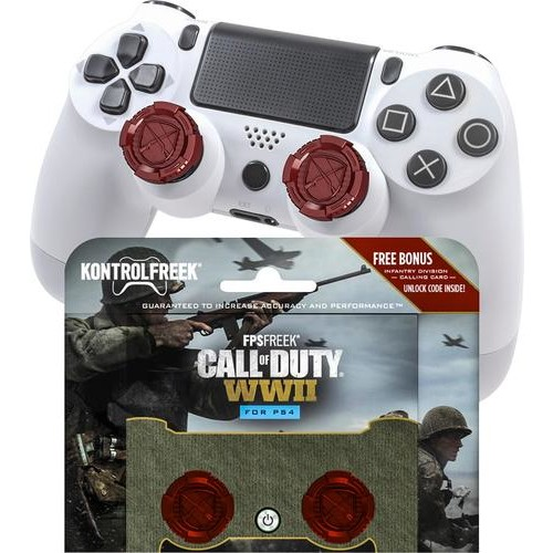KontrolFreek - FPS Freek Call of Duty: WWII Thumbsticks for PlayStation 4 - Red
