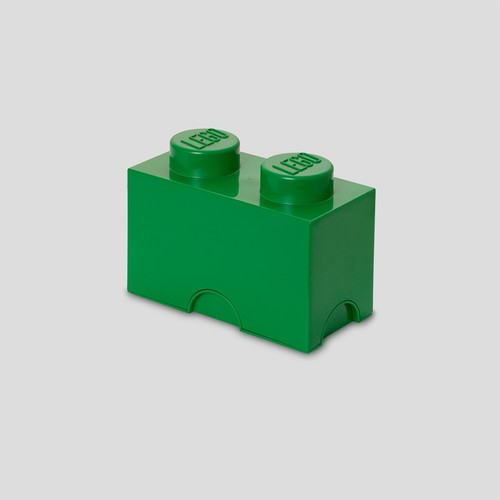 LEGO Storage Brick 2-Stud Dark Green