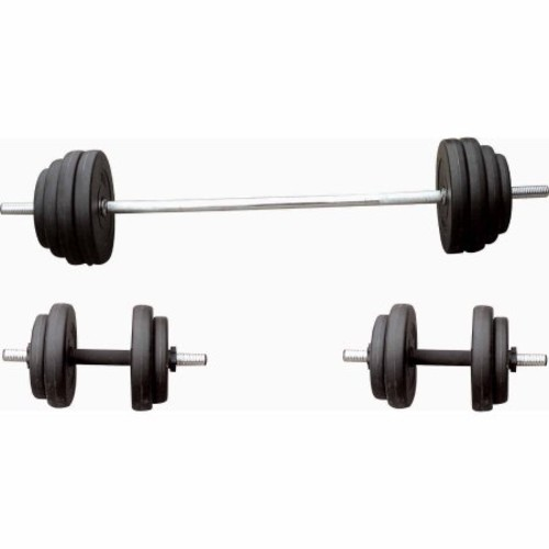 Sunny Health & Fitness 100 lb. Vinyl Weight Set [1]