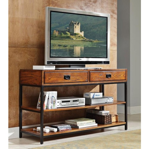 Home Style 5050-06 Modern Craftsman Media Console, Distressed Oak Finish [Distressed Oak]