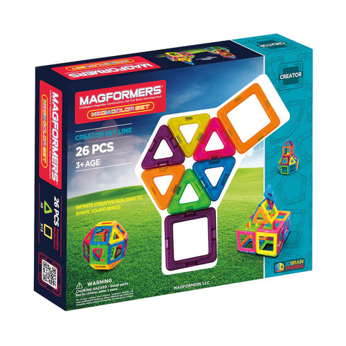 Magformers 26-pc. Neon The Best Starter Set
