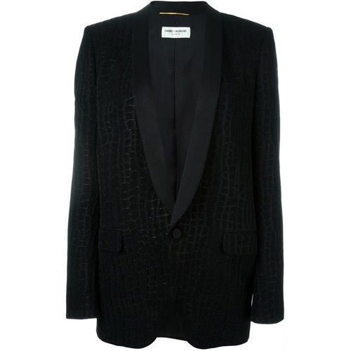 SAINT LAURENT Crocodile Effect Blazer