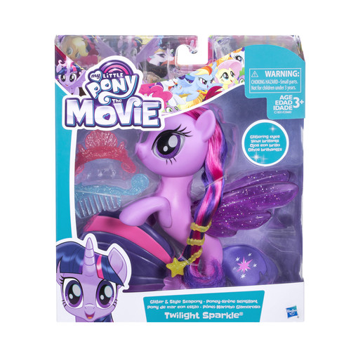 My Little Pony The Movie Twilight Sparkle Glitter and Style Sea Pony Playset