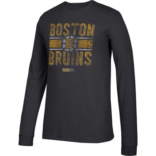 CCM Men's Boston Bruins Line Brawl Black Long Sleeve Shirt