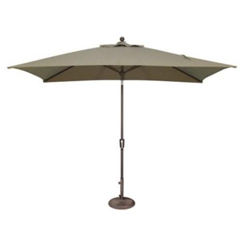 SimplyShade 10' x 6.5' Catalina Rectangular Market Umbrella; Solefin / Forest Green