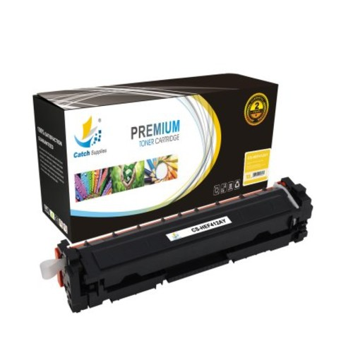 Catch Supplies Replacement HP 410A toner cartridge sets |Black CF410A, Cyan CF411A, Yellow CF412A, Magenta CF413A| compatible with the HP LaserJet Pro M452dn, M452dw, M452nw, MFP M477fdn, MFP M477fdw