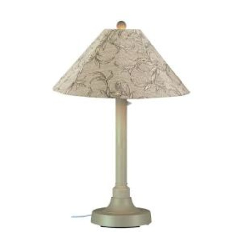 Patio Living Concepts San Juan 34 in. Outdoor Bisque Table Lamp with Bessemer Shade