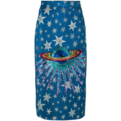 GUCCI Embellished Planet Midi Skirt