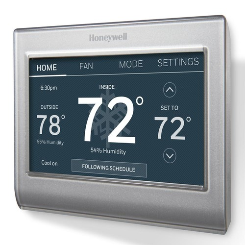 Honeywell Smart Wi-Fi 7 Day Programmable Color Touch Thermostat, works with Amazon Alexa, SmartThings, Google Home, IFTTT