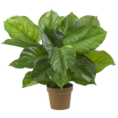 Nearly Natural Large Leaf Philodendron Silk Plant (Real Touch)