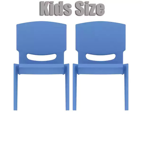 2xhome - Set of Two (2) - Blue - Kids Size Plastic Side Chair 10