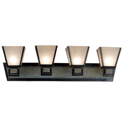 Kenroy Home 91603ORB Clean Slate 3 Light Vanity, Oil Rubbed Bronze Finish [3 light vanity]