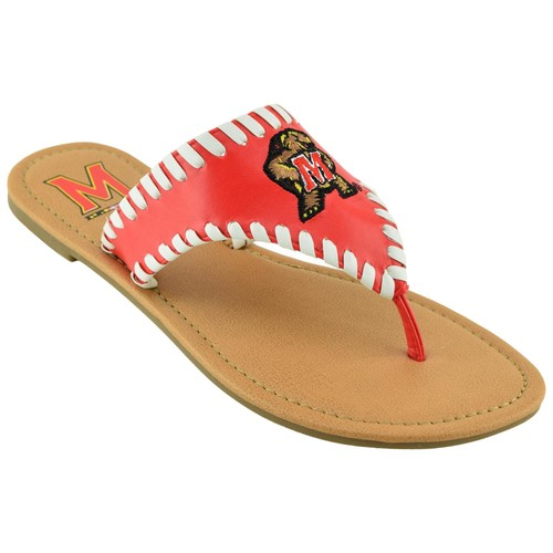NCAA Women's University of Maryland Terrapins Red Sandal