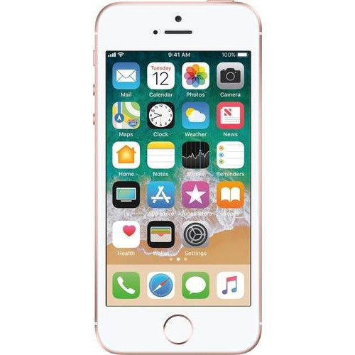 SIMPLE Mobile - Apple iPhone SE 4G LTE with 32GB Memory Prepaid Cell Phone - Rose g