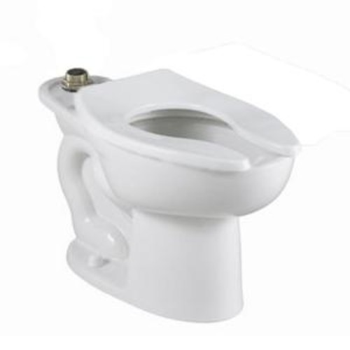 American Standard Madera FloWise 1-piece 1.1 GPF Single Flush High Top Spud Elongated Flush Valve Toilet in White