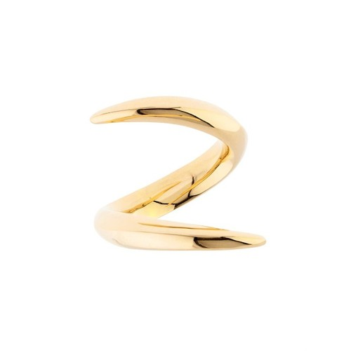 Yellow-gold crossover ring