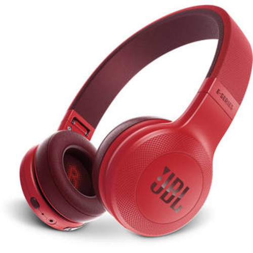 E45BT Bluetooth On-Ear Headphones (Red)