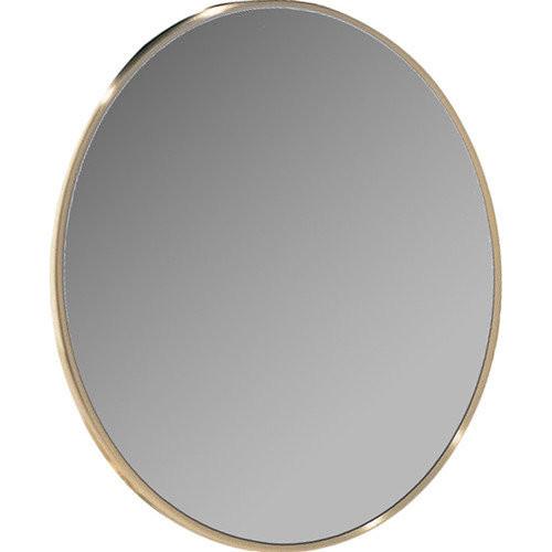 Dainolite Stick-on Wall Magnifiing Mirror in Satin Brass
