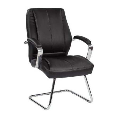 Pro-Line II Black Bonded Leather Visitor Office Chair