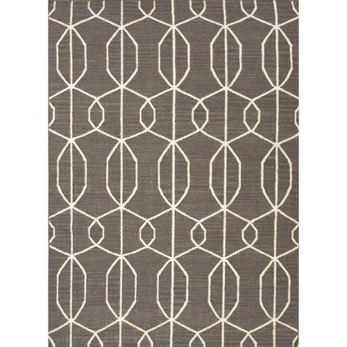 Home Decorators Collection Flatweave Pewter 9 ft. x 12 ft. Geometric Area Rug