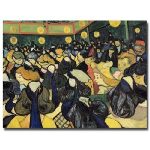 Trademark Fine Art 26 in. x 32 in. The Dance Hall at Arles 1888 Canvas Art