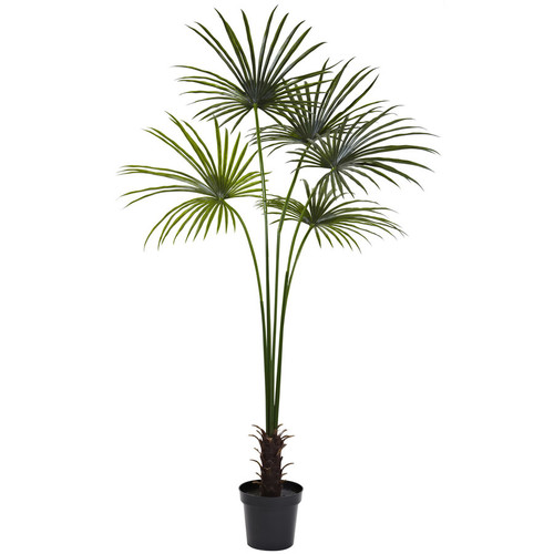 Nearly Natural 84-in Green Palm