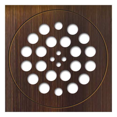 Redi Drain 14 Gauge Stainless Steel Drain Plate 2 pieces SQ Trim RD Drain Plate Oil Rubbed Bronze Finish 2 matching screws