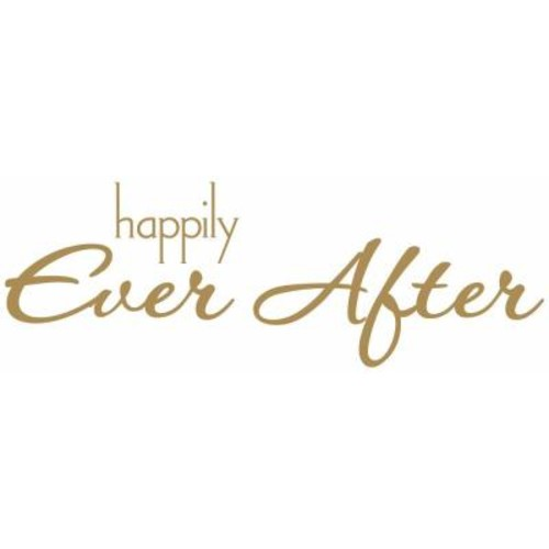 RoomMates 5 in. x 11.5 in. Happily Ever After Quote 8-Piece Peel and Stick Wall Decal