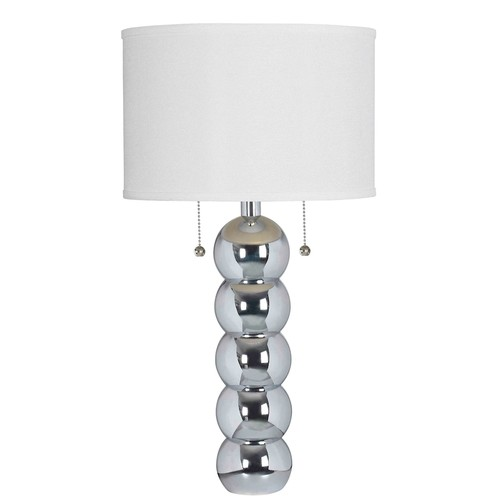 Kenroy Home Bolero 29 in. Chrome Table Lamp