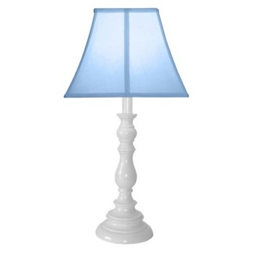 Creative Motion Light Blue with White Candlestick Base Table Lamp