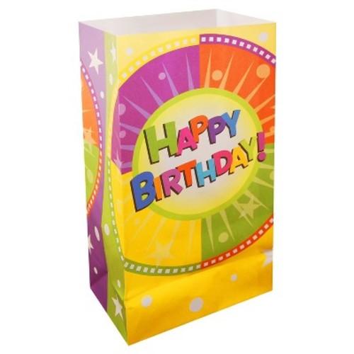 LumaBase 48624 24 Count Happy Birthday Luminaria Bags