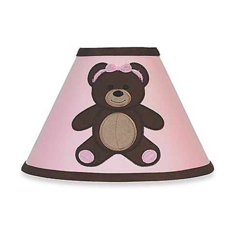 Sweet Jojo Designs Teddy Bear Lamp Shade in Pink/Chocolate