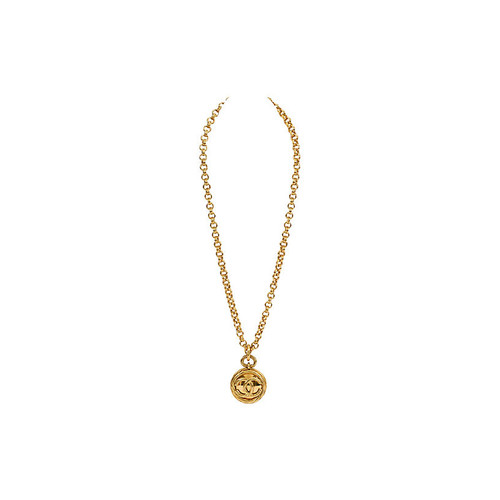 Chanel Double Sided Mirror Necklace