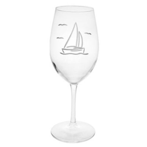 Sailboat All-Purpose Wine Glass