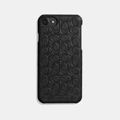 iphone case in signature leather