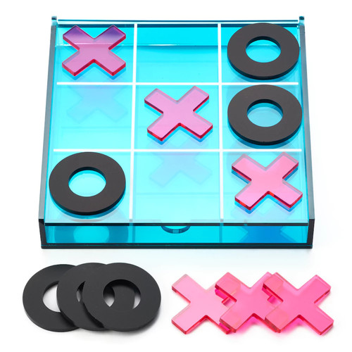 Mini Acrylic Tic-Tac-Toe Set