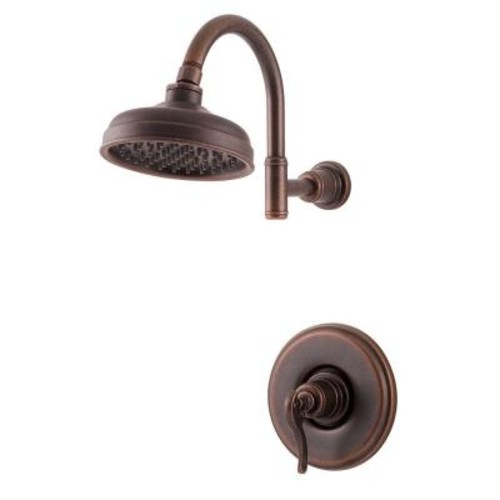 Pfister Ashfield Single-Handle Shower Faucet Trim Kit in Rustic Bronze (Valve Not Included)