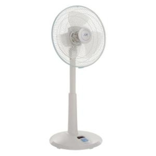 SPT 14 in. 3-Speed Adjustable-Height Oscillating Pedestal Fan with Remote